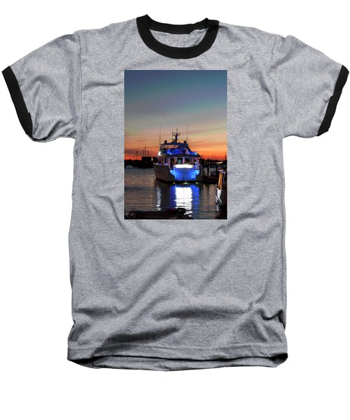 Baseball T-Shirt featuring the photograph An Evening In Newport Rhode Island IIi by Suzanne Gaff
