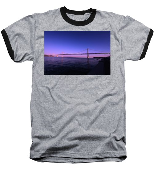 An Evening In San Francisco  Baseball T-Shirt by Linda Edgecomb