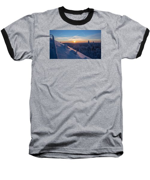 an evening on the Achtermann, Harz Baseball T-Shirt by Andreas Levi