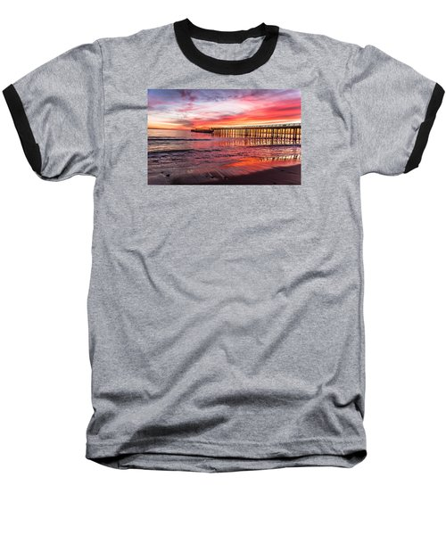 Seacliff Sunset Baseball T-Shirt by Lora Lee Chapman