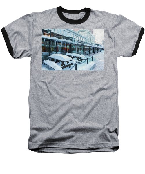 An Icy Quincy Market Baseball T-Shirt