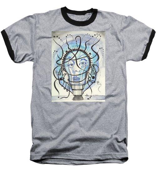 Baseball T-Shirt featuring the digital art An Idea by Darren Cannell