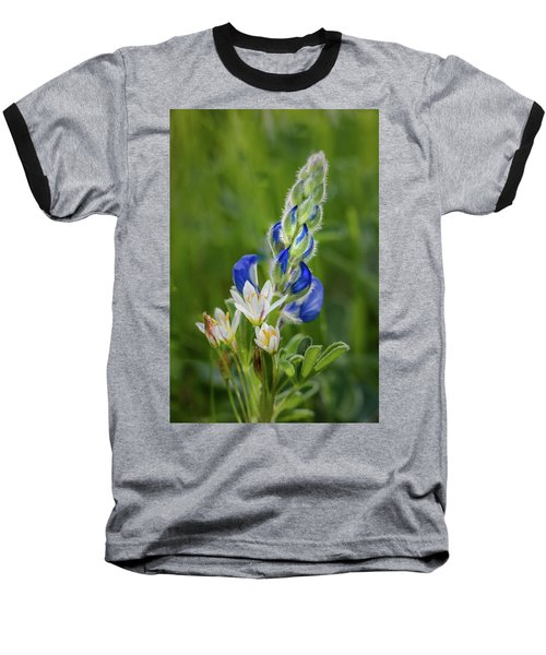 Baseball T-Shirt featuring the photograph An Intimate Bouquet by James Woody
