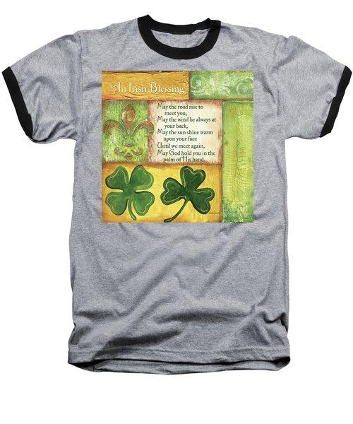 Baseball T-Shirt featuring the painting An Irish Blessing by Debbie DeWitt