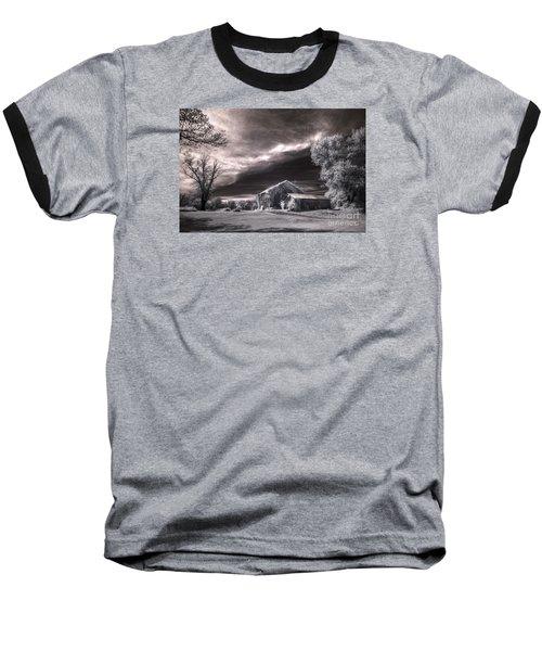 An Ivy Covered Rustic Baseball T-Shirt