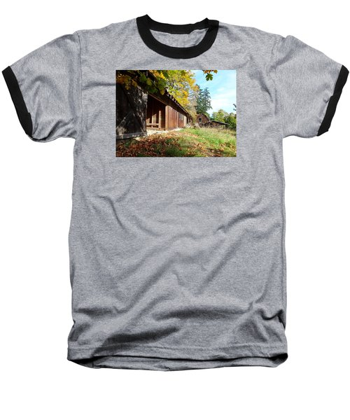 An Old Farm Baseball T-Shirt by Mark Alan Perry