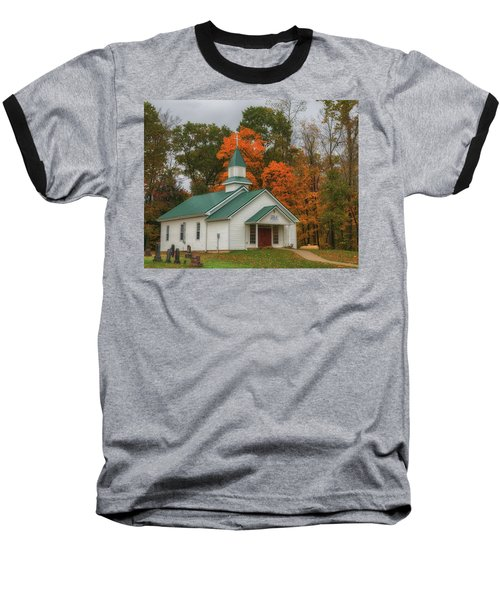 An Old Ohio Country Church In Fall Baseball T-Shirt