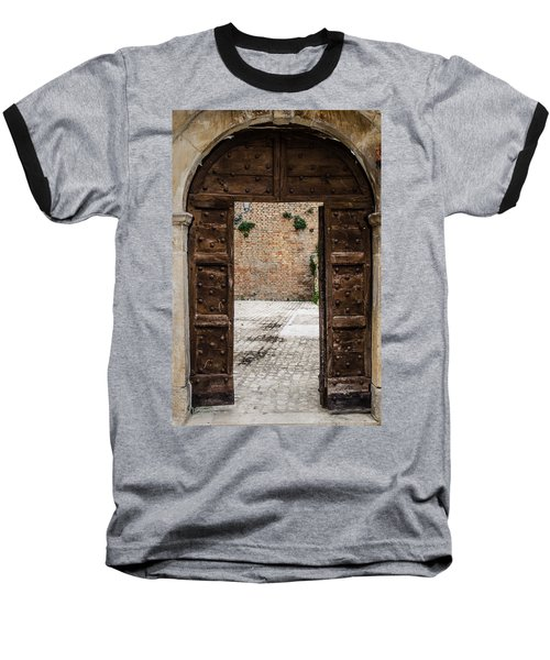 An Old Wooden Door 2 Baseball T-Shirt
