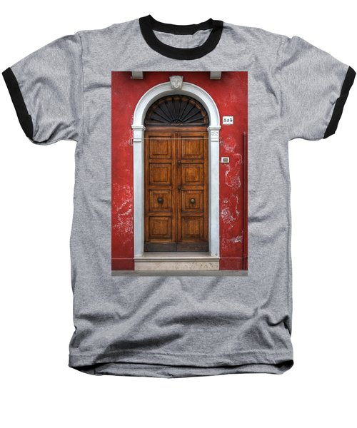 an old wooden door in Italy Baseball T-Shirt