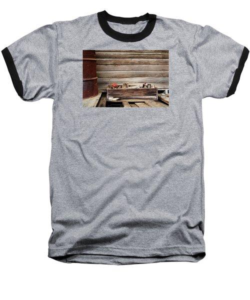 An Old Wooden Toolbox Baseball T-Shirt by Lynn Jordan