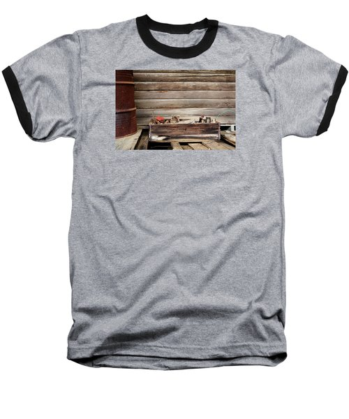 An Old Wooden Toolbox Baseball T-Shirt