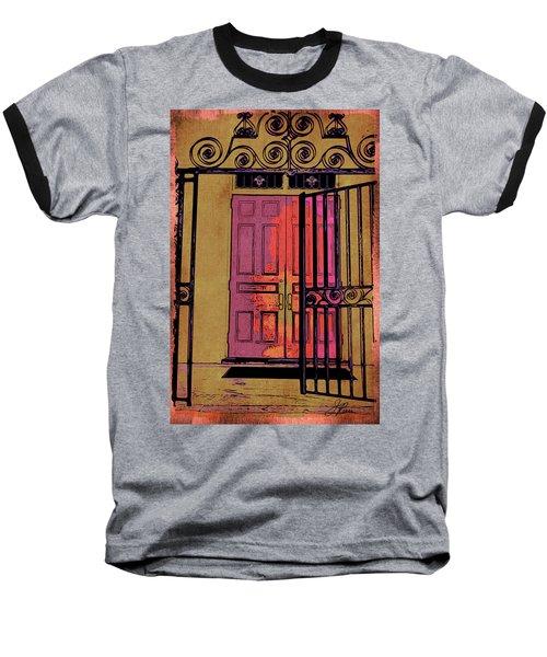 An Open Gate Baseball T-Shirt by Joan Reese