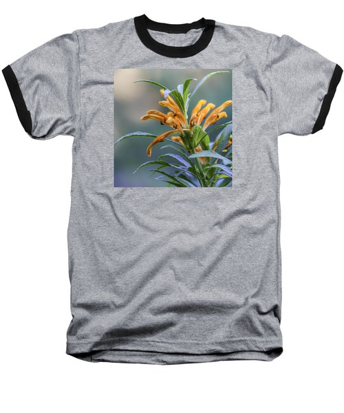 An Orange Flower Baseball T-Shirt