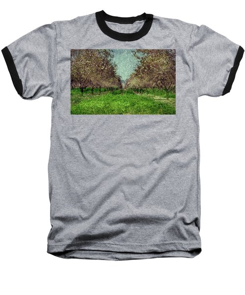An Orchard In Blossom In The Eila Valley Baseball T-Shirt