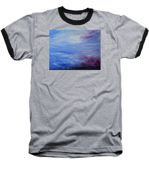 Baseball T-Shirt featuring the painting An Unspoken Message by Jane See