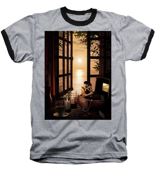 Baseball T-Shirt featuring the digital art Ana by Shinji K