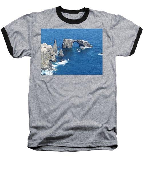 Anacapa Island Arch Rock Baseball T-Shirt