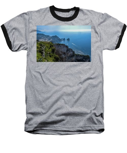 Anacapri On Isle Of Capri Baseball T-Shirt by Marilyn Burton