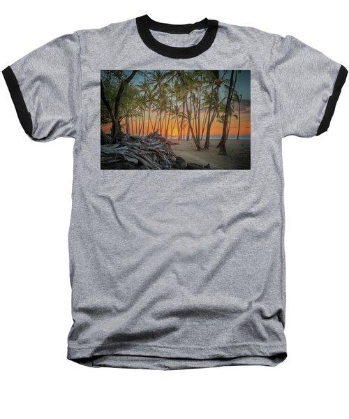 Anaehoomalu Beach Sunset Baseball T-Shirt