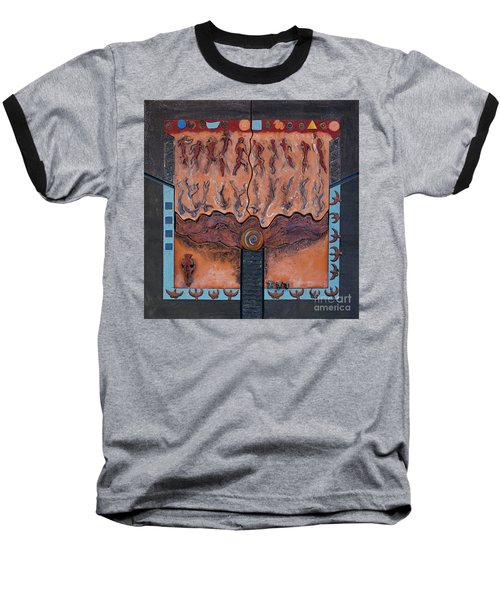 Ancestral Chart- Ancient Early - Hunters Gatherers - Chasseurs Cueilleurs - Cazadores Recolectores  Baseball T-Shirt