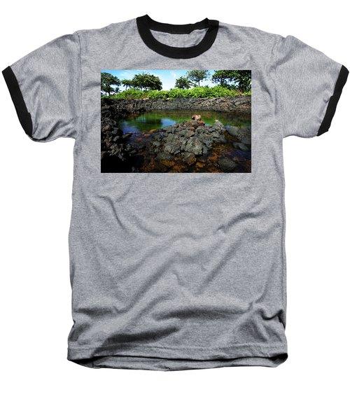 Baseball T-Shirt featuring the photograph Anchialine Pond by Anthony Jones