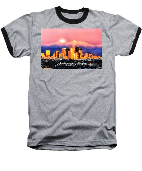Baseball T-Shirt featuring the digital art Anchorage - Bright-named by Elaine Ossipov