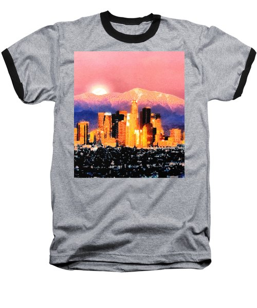 Baseball T-Shirt featuring the digital art Anchorage by Elaine Ossipov
