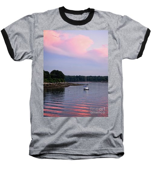 Anchored At Peaks Island, Maine  -07828 Baseball T-Shirt by John Bald