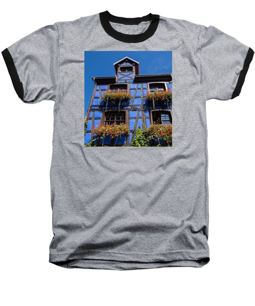 Ancient Alsace Auberge In Blue Baseball T-Shirt