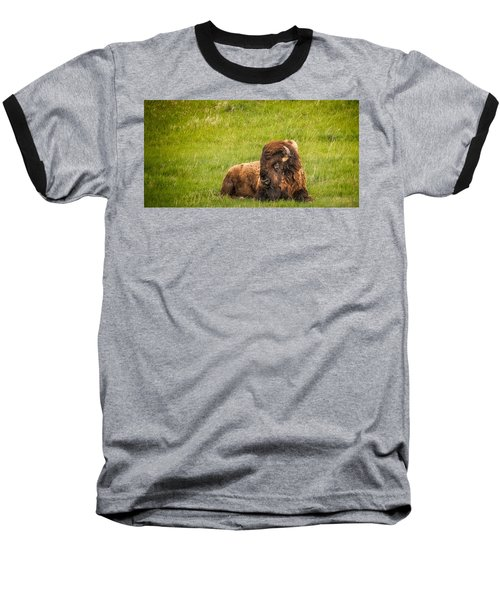 Baseball T-Shirt featuring the photograph Ancient Bison by Rikk Flohr