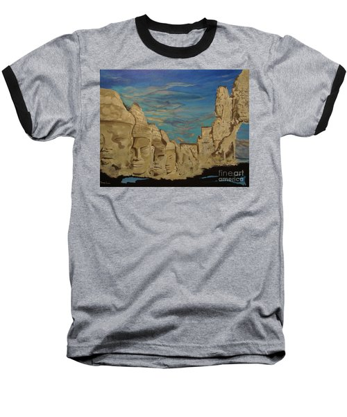 Baseball T-Shirt featuring the painting Ancient Clouds by Stuart Engel