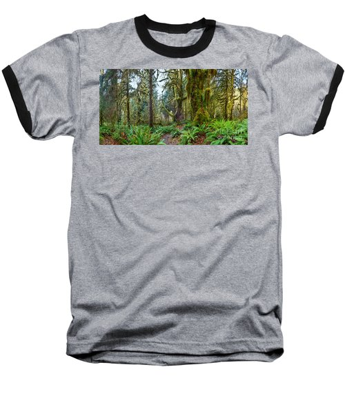 Ancient Forest Panorama Baseball T-Shirt