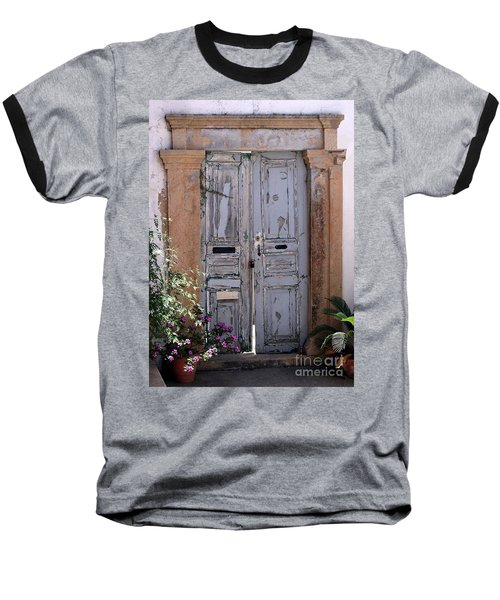 Ancient Garden Doors In Greece Baseball T-Shirt