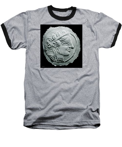 Ancient Greek Relief Seal Drawing Baseball T-Shirt by Suhas Tavkar