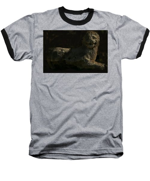 Baseball T-Shirt featuring the photograph Ancient Lion - Nocisia  by Jim Vance
