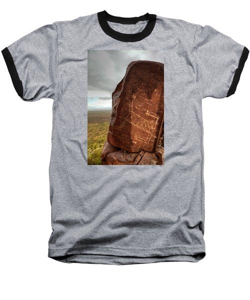 Ancient Petroglyph At Three Rivers Petroglyph Site Baseball T-Shirt