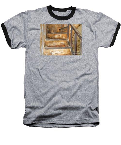 Ancient Stairway Baseball T-Shirt by Roberta Byram