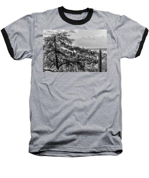 Ancient Walls Of Florence-bandw Baseball T-Shirt