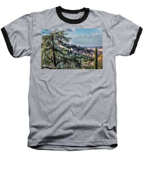 Baseball T-Shirt featuring the photograph Ancient Walls Of Florence by Sonny Marcyan