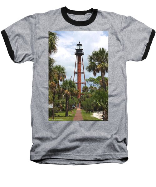 Anclote Key Lighthouse Baseball T-Shirt
