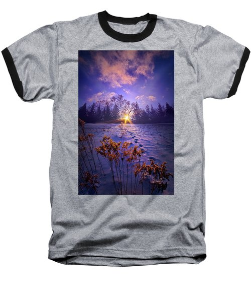 Baseball T-Shirt featuring the photograph And Back Again by Phil Koch