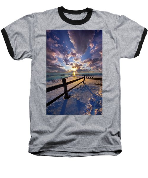 Baseball T-Shirt featuring the photograph And I Will Give You Rest. by Phil Koch