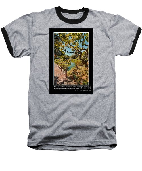 And So In This Moment With Sunlight Above Baseball T-Shirt by Jim Fitzpatrick