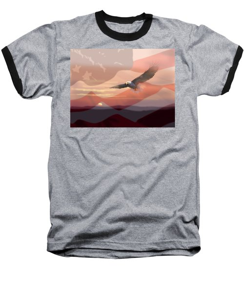 And The Eagle Flies Baseball T-Shirt