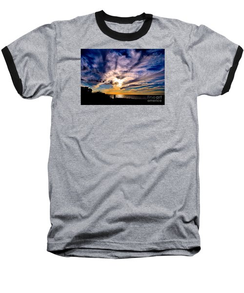 And Then There Was God Baseball T-Shirt by Margie Amberge