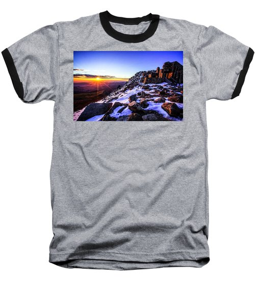Baseball T-Shirt featuring the photograph And Then There Was Light by Kristal Kraft