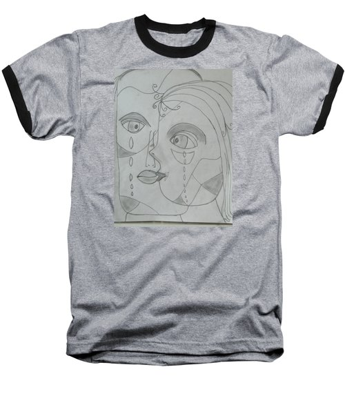 Baseball T-Shirt featuring the drawing And Then They Parted by Sharyn Winters