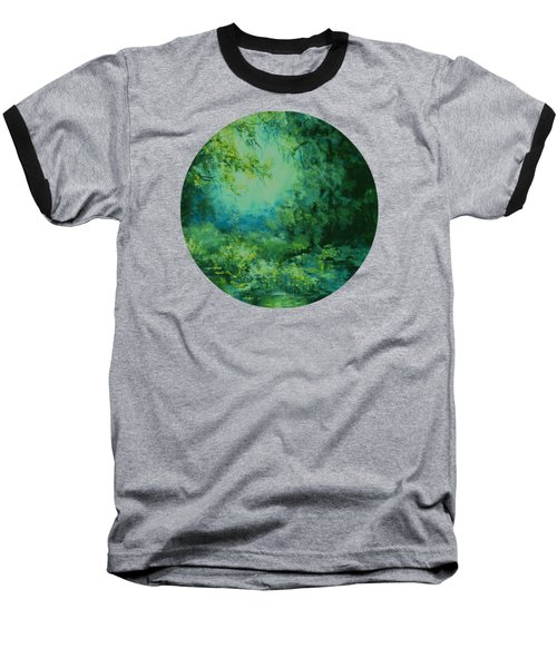 And Time Stood Still Baseball T-Shirt by Mary Wolf