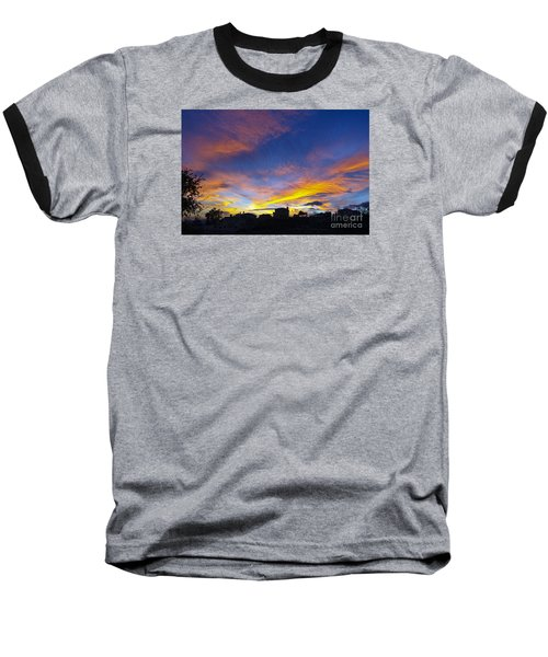Andalusian Sunset Baseball T-Shirt by Perry Van Munster