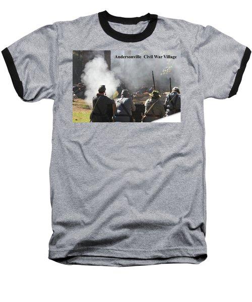 Andersonville Civil War Village Baseball T-Shirt